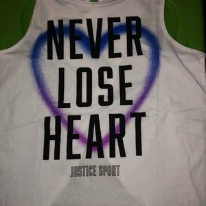 NWT Justice Heart tank sizes 14/16 &18/20